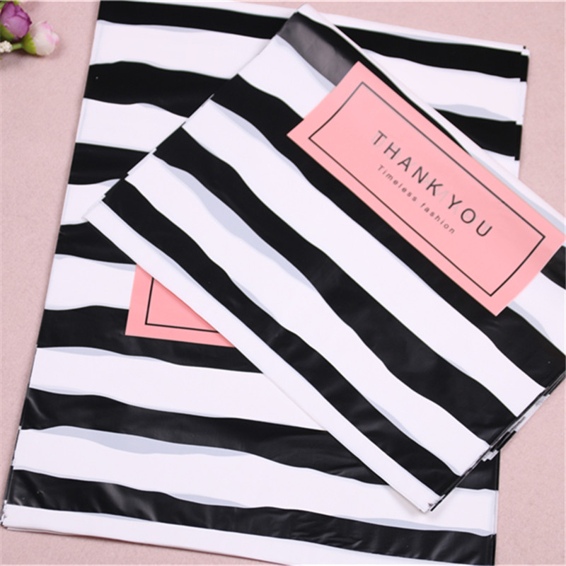 Image 5 - New Design Wholesale 100pcs/lot 25*35cm Luxury Fashion Shopping Plastic Gift Bags with Thank You Favor Birthday Packaging-in Gift Bags & Wrapping Supplies from Home & Garden