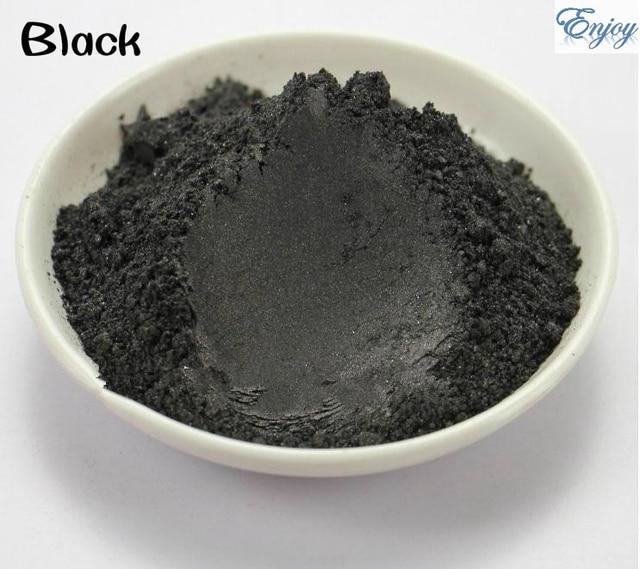 500 g/bolsa de Alta Calidad Polvo De Perla polvo de Pigmento Del Brillo Nacarado de Mica En Polvo de Color Negro Para la Decoración de DIY.