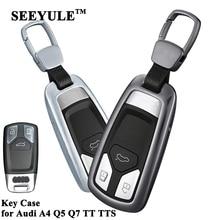 hot deal buy 1pc seeyule aluminum alloy car key case cover key storage shell protector styling car accessories for audi a4 a5 q5 q7 tt tts