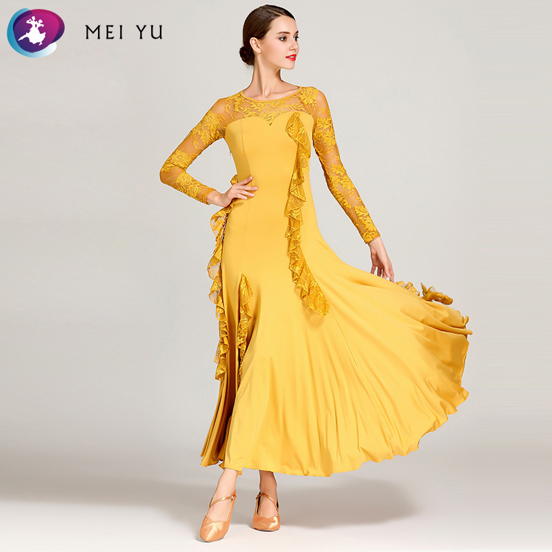 Ballroom Mei Yu S9012 Modern Dance Costume Women Ladies Dancewear Waltzing Tango Dancing Dress Ballroom Costume Evening Party Dress
