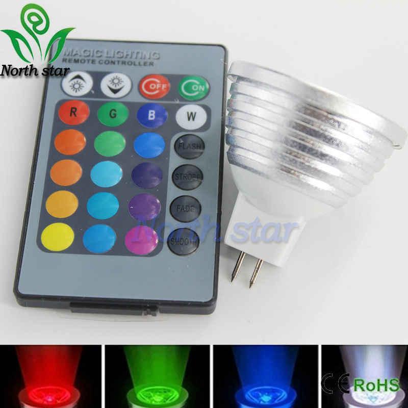 LED 16 couleurs rvb spot E27/E14/GU10/MR16 AC 86-265v MR16 DC12v RGB lampe colorée LED 5W éclairage + 24 touches IR télécommande