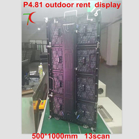 Renting stage full color display screen outdoor P4.81 color advertising wall led display board full screen