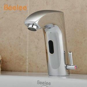 Image 2 - כיור אמבטיה ברז פליז גימור עם חיישן אוטומטי (חם וקר) (QH0112BA)