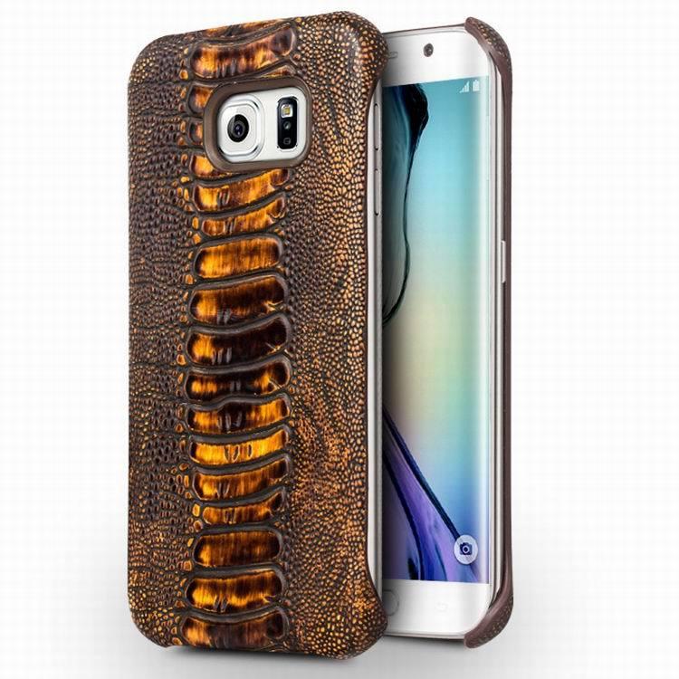 qialino pata de avestruz de lujo textura de cuero genuino teléfono case para sa