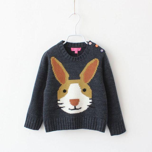 1eabb471e 2016 Kids Girls Knit Rabbit Sweaters Baby Girl Fall Winter Cartoon ...