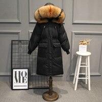 Большой меховой зимняя куртка утепленные парки женские утепленные длинное зимнее пальто вниз хлопок дамы вниз парка пуховая куртка Женски
