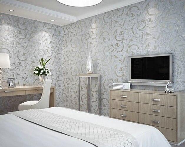 Carta Da Parati Moderna Argento : La nuova decorazione della casa moderna grigio argento abstract