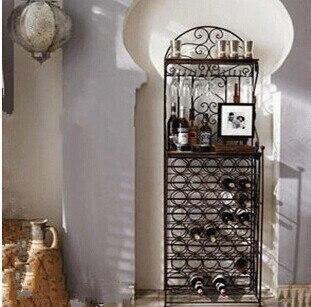Fonkelnieuw Mode theroom ijzeren wijnrek cooler hanap vloerlampen wijnrek in PT-16