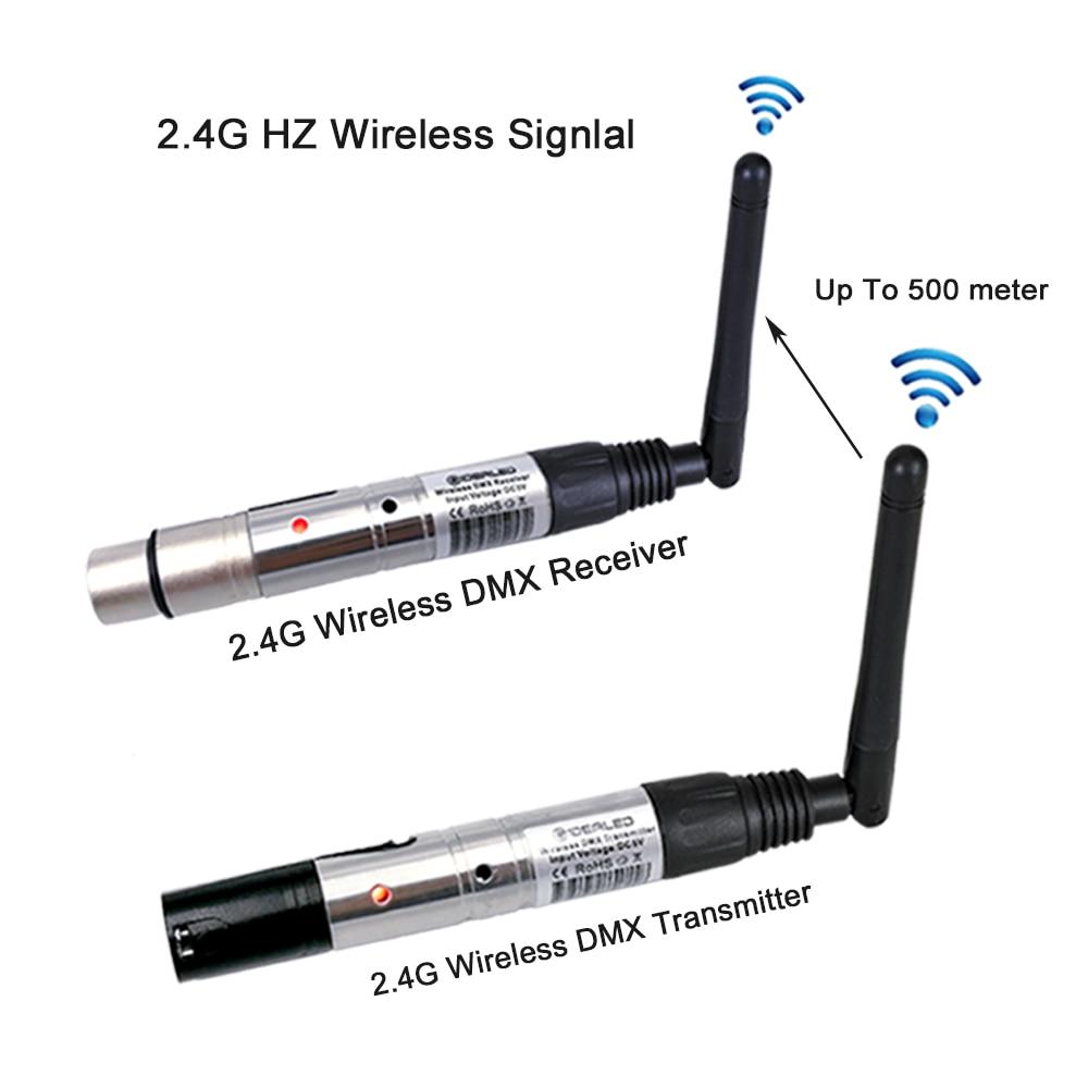 DMX512 Dfi DJ Disco 2.4G Wireless Transmitter light control 2.4G ISM DMX Wireless Receiver for LED lights Stage Light PAR Light