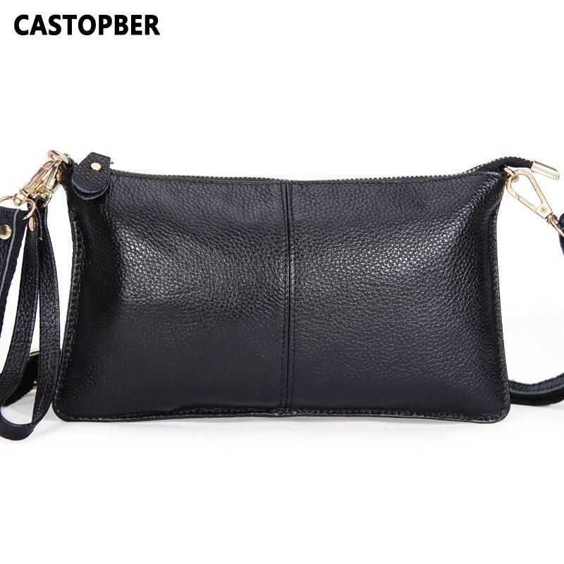 Designer Fashion Genuine Leather Envelope Day Clutches Handbags Crossbody Womens Female Clutch Evening Bag