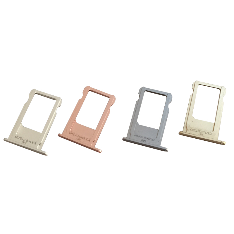 10 Pcs/Lot, Sim Card Reader Holder Slot Connector Sim Cards Adapters For Iphone 6S Sim Card Tray Slot Holder Original New