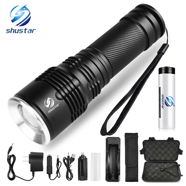 Super bright LED Flashlight Bicycle Light Zoomable LED Torch 5 lighting modes camping light For night riding adventures, etc.