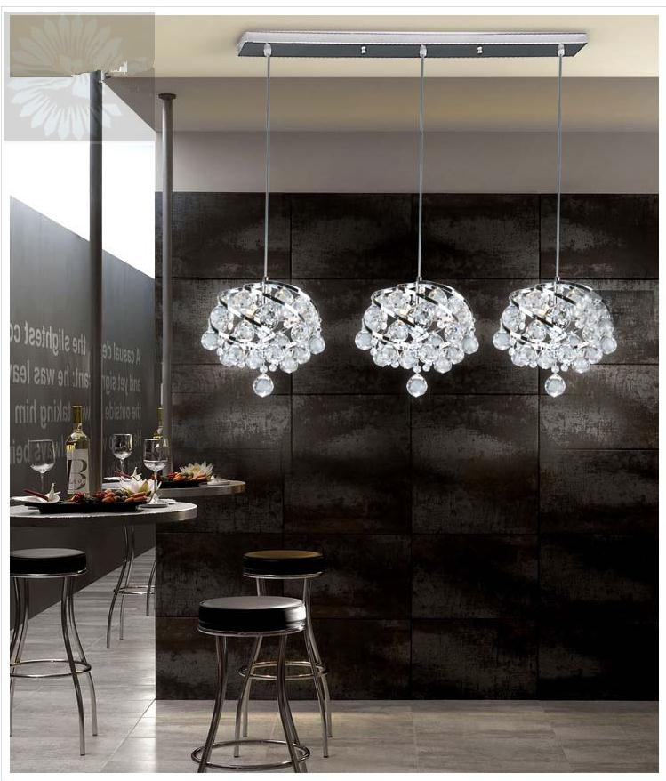 Pendant Lights dining room bedroom lamp lychee crystal 1/3 heads lamps simple warm Crystal hanging pendant lamp SJ114 3 heads pendant lamps dining room glass pendant light living room lights bedroom pendant lamps iron lamp fg552