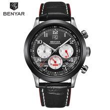 BENYAR marque de luxe chronographe Sport montre hommes mode étanche militaire Quartz montre bracelet Date horloge homme Relogio Masculino
