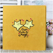 2018 new Embroidered photo album self-adhesive coated DIY hand paste-type lovers baby creative gifts