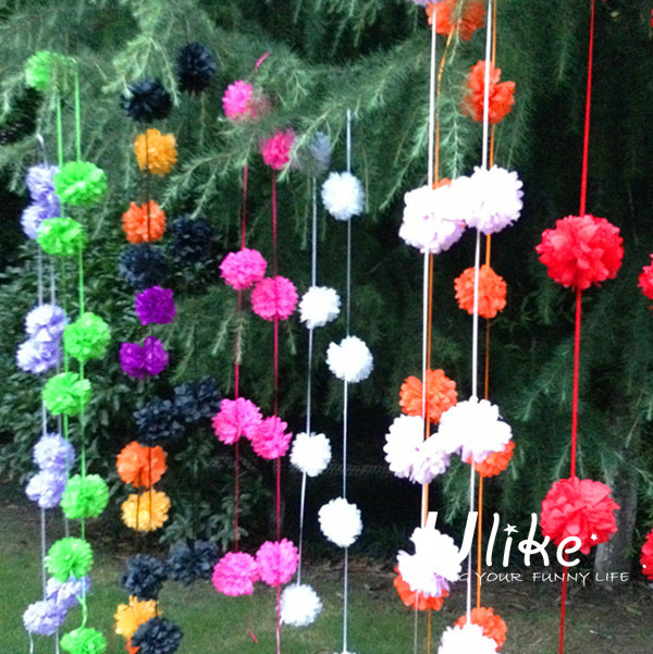 Merveilleux 14cm 9pcs/garland 200garland Garland Flowers Pom Flower Pink Home Decor  Party Outdoor Decoration Party