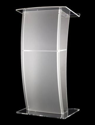 SchöN Freies Verschiffen Acryl Kanzel Mit Vier Kristall Spalten/modernes Design Acryl/kristall Kanzel Der Kirche Logo Anpassen Theater Möbel Möbel