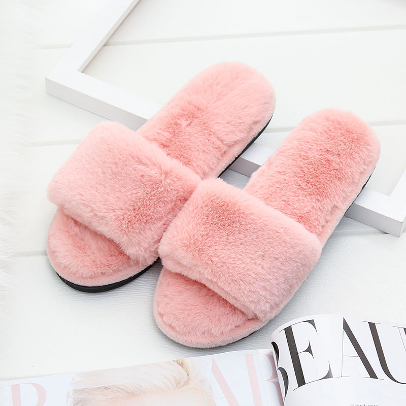 4a135d0725715 Detail Feedback Questions about Woman's Fur Fluffy Furry Fuzzy Slipper Flip  Flop Open Toe Plush Cozy House Sandal Soft Winter Flat Anti Slip Spa Indoor  ...