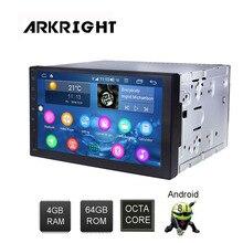 ARKRIGHT 7 4 + 64 ギガバイト 2Din アンドロイド車プレーヤーアンドロイド 8.1 カー autoradio carplay sc9853i と 4 グラム SIM カードスロット車 mulitimedia
