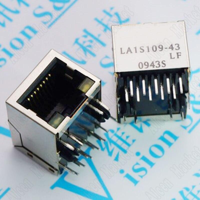 100pcs/lot Original LA1S109-43LF RJ45 Connector Network Interface LA1S109 connector 6565204 1 original