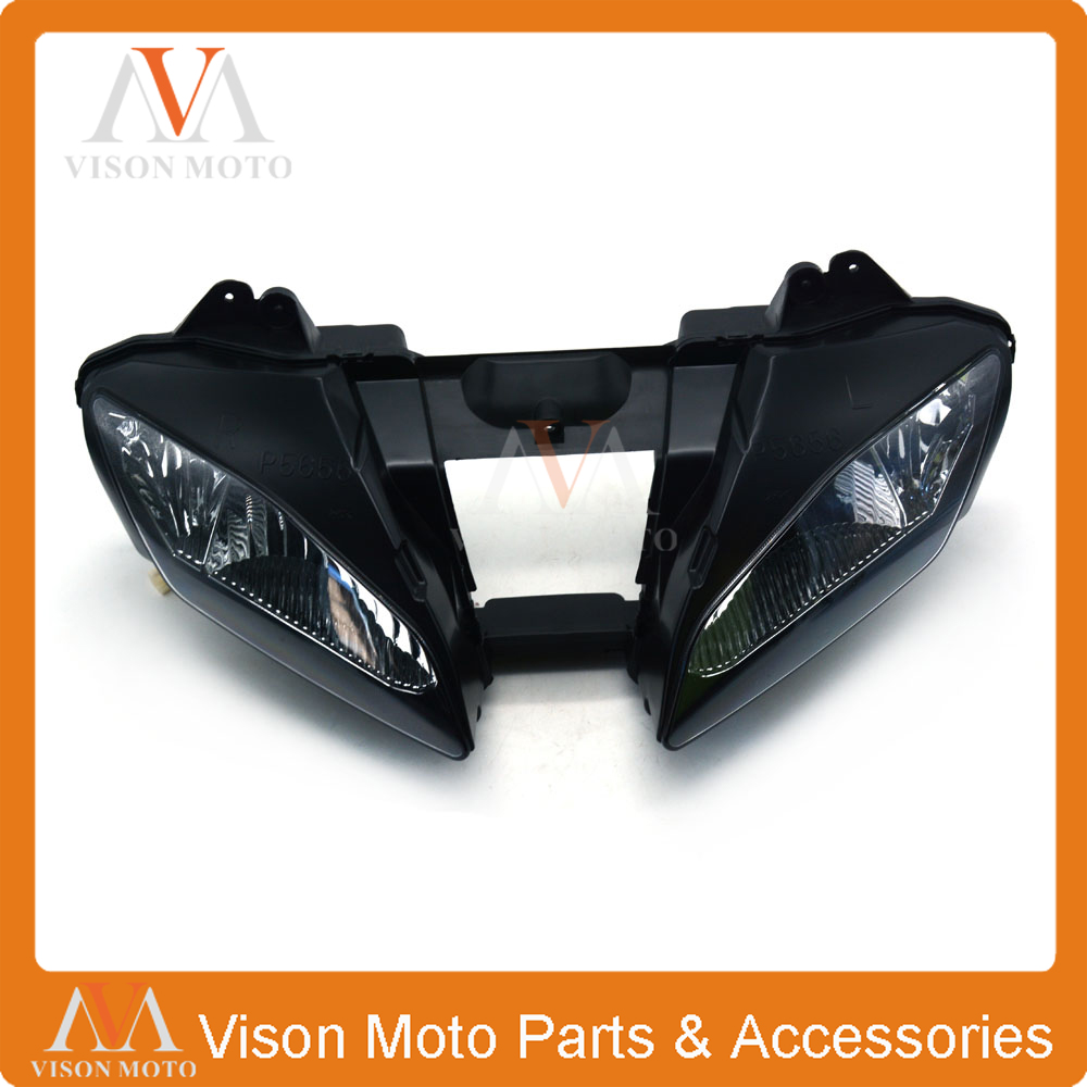 Motorcycle Front Light Headlight Head Lamp For YAMAHA YZF-R6 YZFR6 YZF R6 2006 2007 06 07 motorcycle scooter electroplate front headlight headlamp head light lamp small mask cap cover shield large for yamaha bws x 125