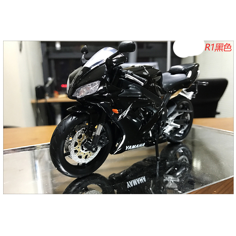 1:12 Super Motorcycle Model Alloy Static Car Model Toys YZF R1 Limited Edition Locomotive Decoration Gift For Boys gift for baby 1pc 1 12 17cm ducati yamaha yzf r1 cross country motorcycle collection plastic alloy model children boy toy