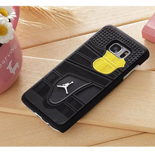Newest 3D Jordan Sneakers Sole Pattern Mobile Phone Back Cover For Samsung Galaxy S7 S7Edge Phone Case Phone Shell Free Shipping