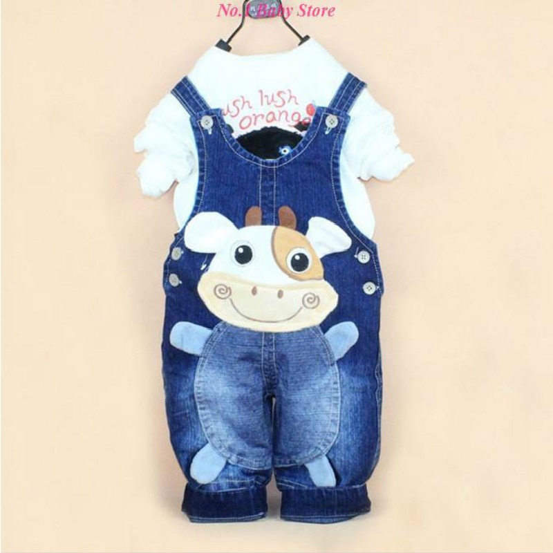 New Children S Denim Overalls Small Cows Kids Pants Baby