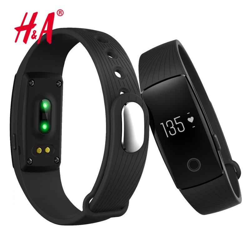 Smart band ID107 Heart Rate Monitor Smartband Fitness Sport Bracelet Pulsometer Smart Wristband PK Fitbits mi band 2