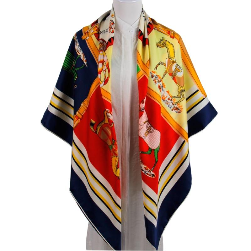 MAGNOLIA Fashion Silk Twill Scarf Կանայք բարձրորակ - Հագուստի պարագաներ - Լուսանկար 6