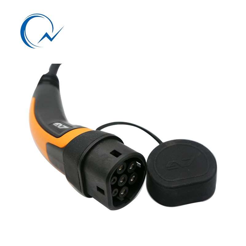 Image 3 - 16A EV Cable Type 2 to Type 2 IEC 62196 2  single phase EV Charging Plug With 5 Meter spring cable 3.6KW EV charging MennekesChargers & Service Equipment   -