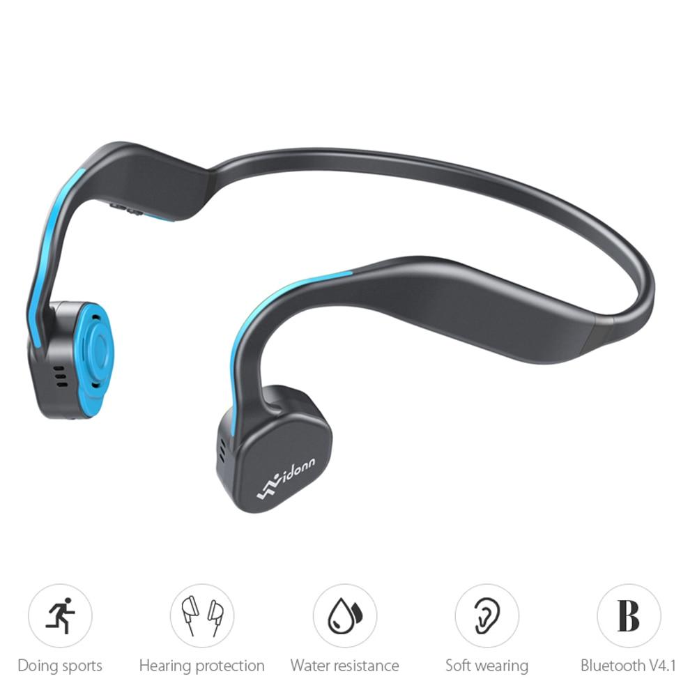 Vidonn F1 Sans Fil Conduction Osseuse HiFi Bluetooth Écouteur W/MIC Antibruit Étanche de Course Sport Neckband Écouteurs
