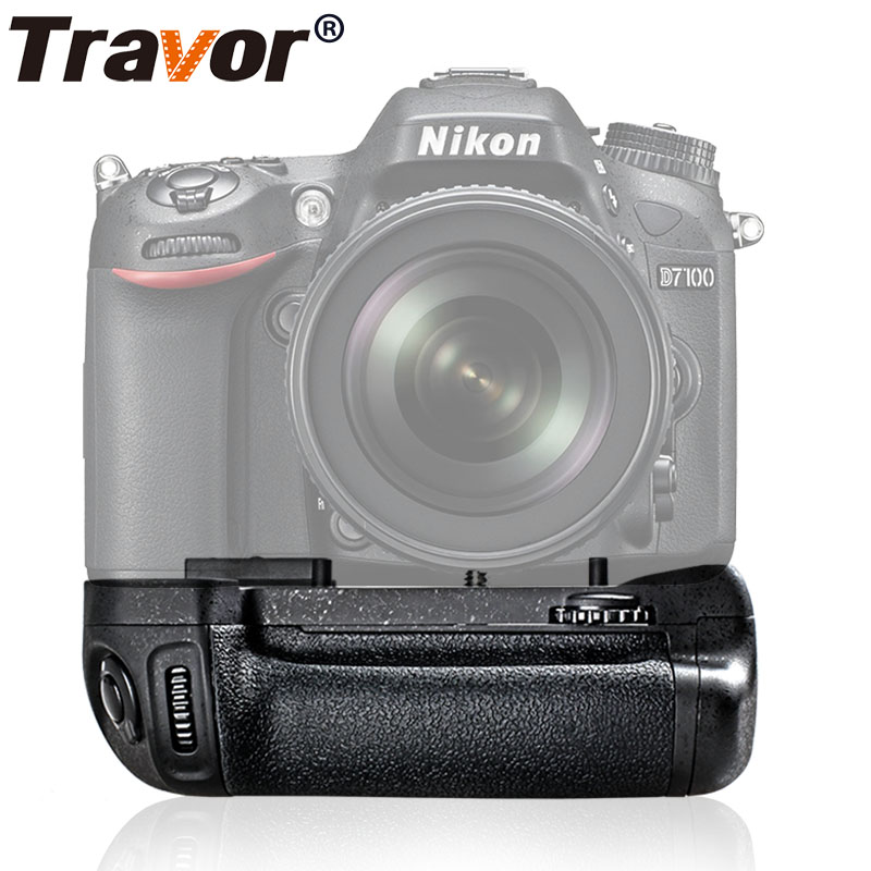 Travor Camera Vertical Battery Grip Holder For NIKON DSLR D7100 D7200 Battery Handle Replace MB-D15 Work With EN-EL15 Battery travor battery grip holder for nikon d7100 d7200 dslr camera replacement mb d15 1pcs en el15 li ion battery 2pcs lens cloth