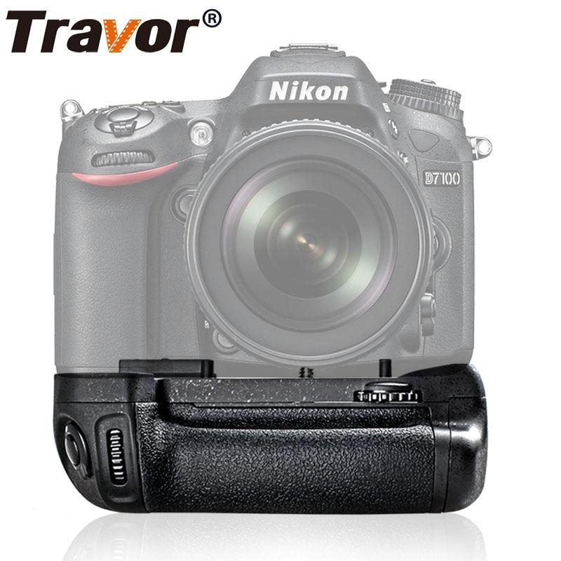 Travor Camera Vertical Battery Grip Holder For NIKON DSLR D7100 D7200 Battery Handle Replace MB D15 Work With EN EL15 Battery