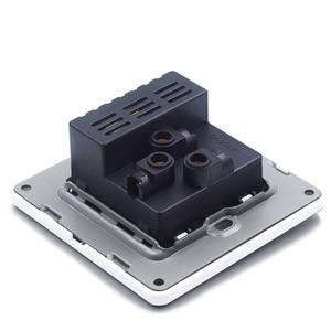 Image 4 - Biały elektryczny ścienny panel gniazda 2 szpilki 3 otwory z 2 USB do ładowania gniazdo zasilania CE RoHs zatwierdzone