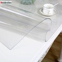 Современная кухня масло скатерть набор мягкое стекло Настольный ПВХ прозрачный воды лодка мм 1,0 мм толщина. 52 размеры optional2018