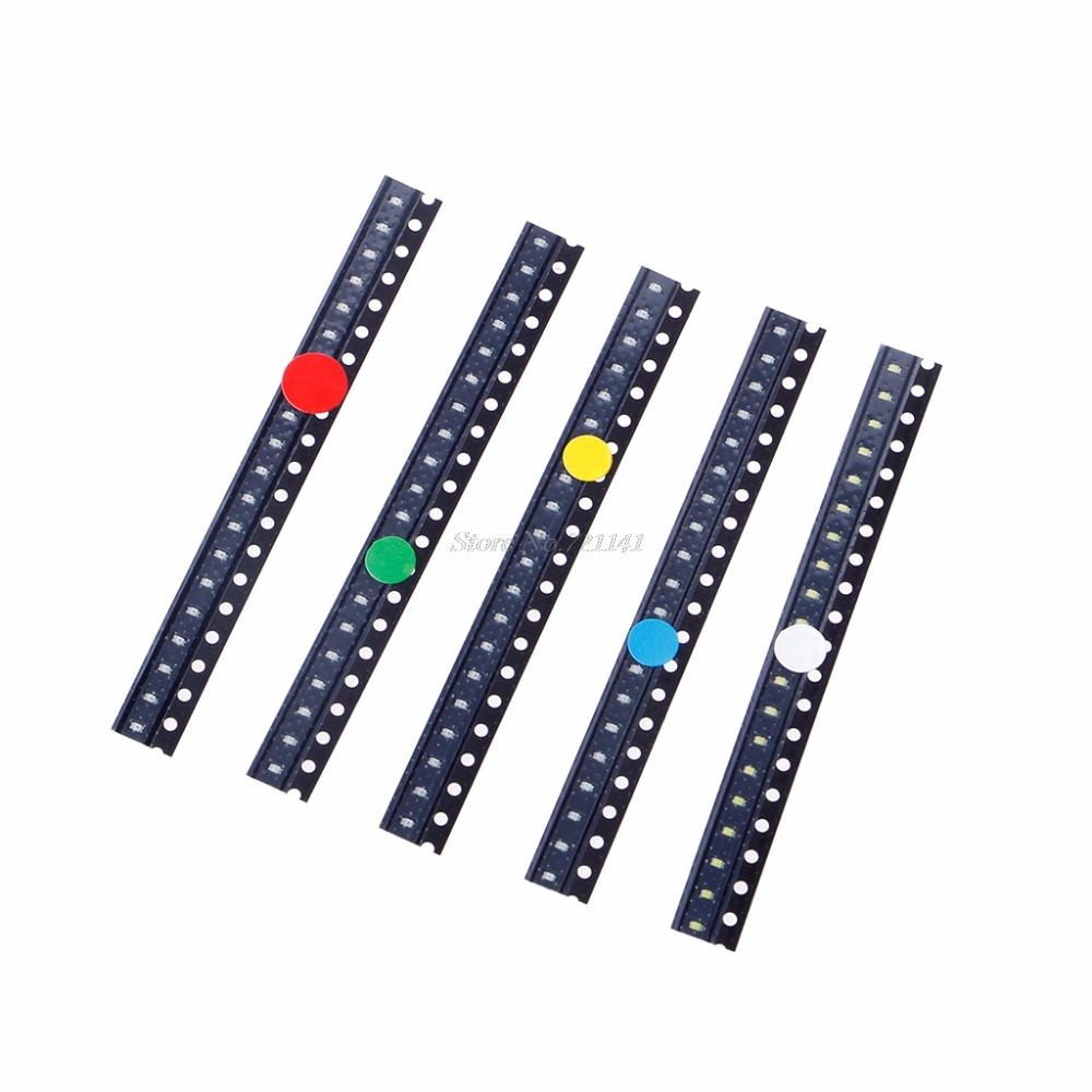 Electronic Components & Supplies Diodes 100pcs 5mm Led Diode Light Assorted Kit Diy Leds Set White Yellow Red Green Blue Electronic Diy Kit Bracing Up The Whole System And Strengthening It