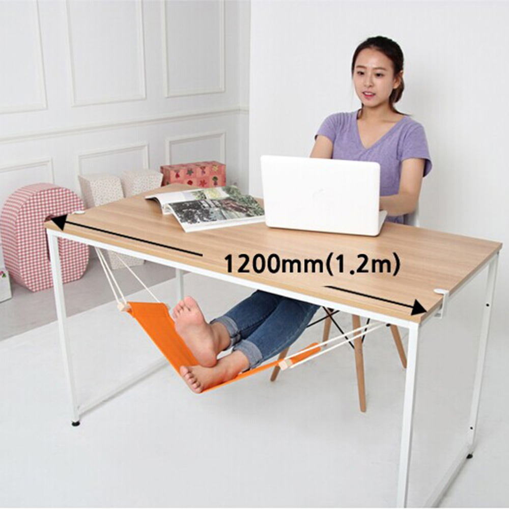 New 1pc Portable Novelty Mini Indoor Outdoor Household Office Desk Foot Rest Stand Adjustable Desk Chair Feet Hammock Accessory hammock accessory portable hammock stand black background