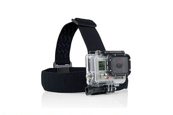 With Black Head Strap For Go pro Hero3 hero <font><b>7</b></font> 6 5 <font><b>4</b></font> 3 2 1 3+ Sj <font><b>5000</b></font> 4000 Sj6000 Sj7000 Yi F05745 image