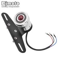 BJMOTO Motorcycle LED Taillight Rear Lamp License Plate Bracket Turn Signal Brake lights For Harley Honda Yamaha Tail Light