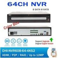DH логотип 4 К и H.265 64CH сети видео Регистраторы поддержка RAID звуковая сигнализация P2P Профессиональный видеонаблюдения NVR