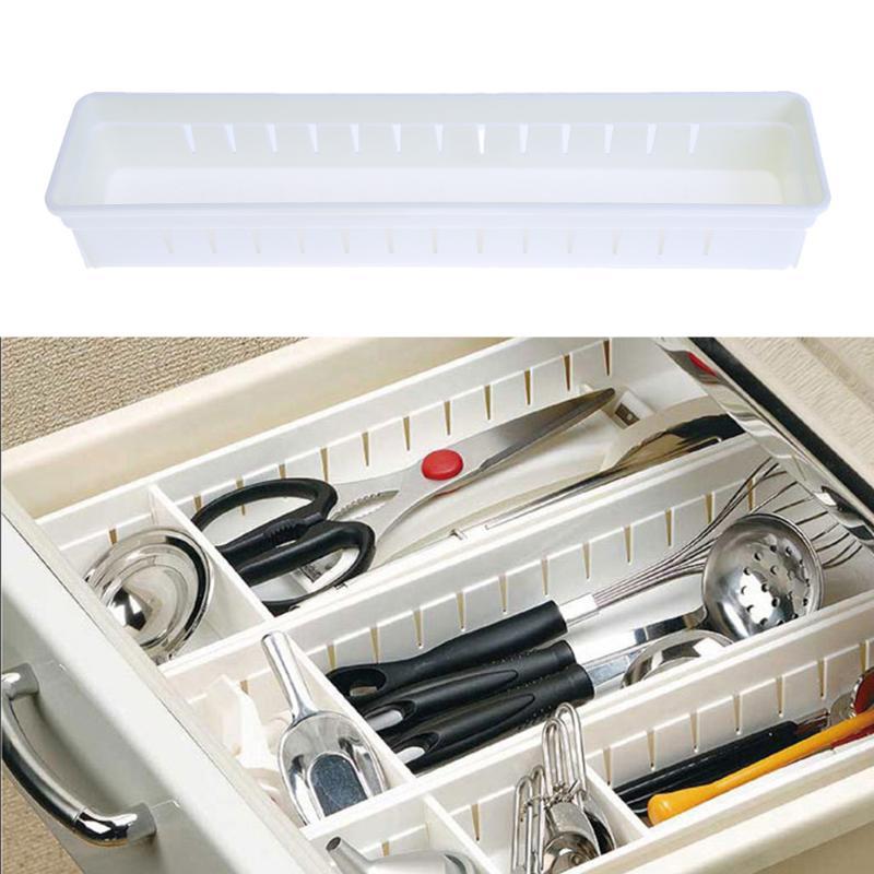 3 Cells Spacer Storage Box Plastic DIY Drawer Divider Household Grid Plate Finishing Folding Clothing Organizer
