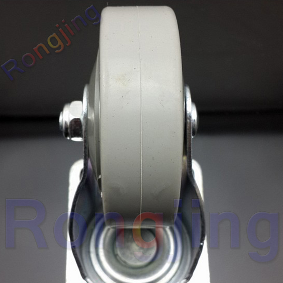 New 2.5'' 360Degree Furniture Universal Caster PVC Palted With Double Brake  Rolling Swivel Castor Tablet Type Chair Fast Pulley