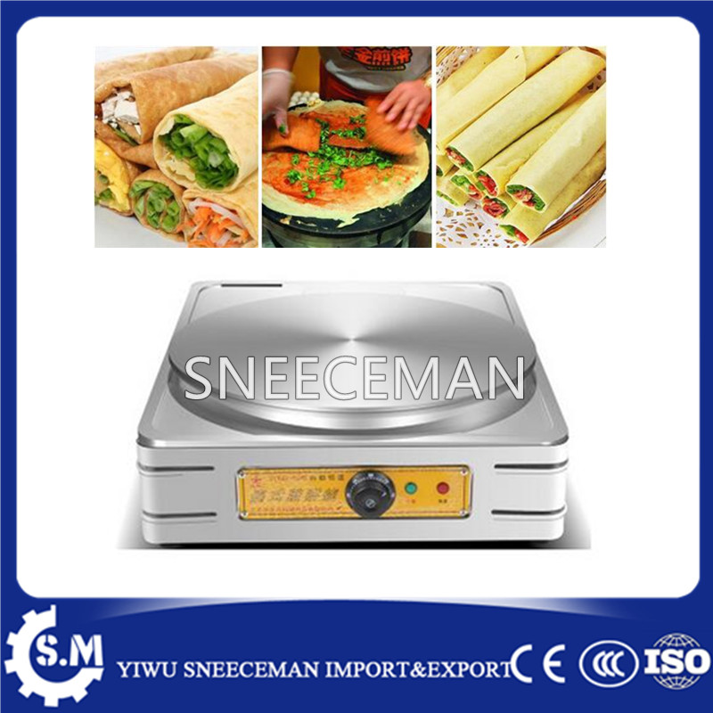 single pan electric type crepes machine pancake making machine on sale цена