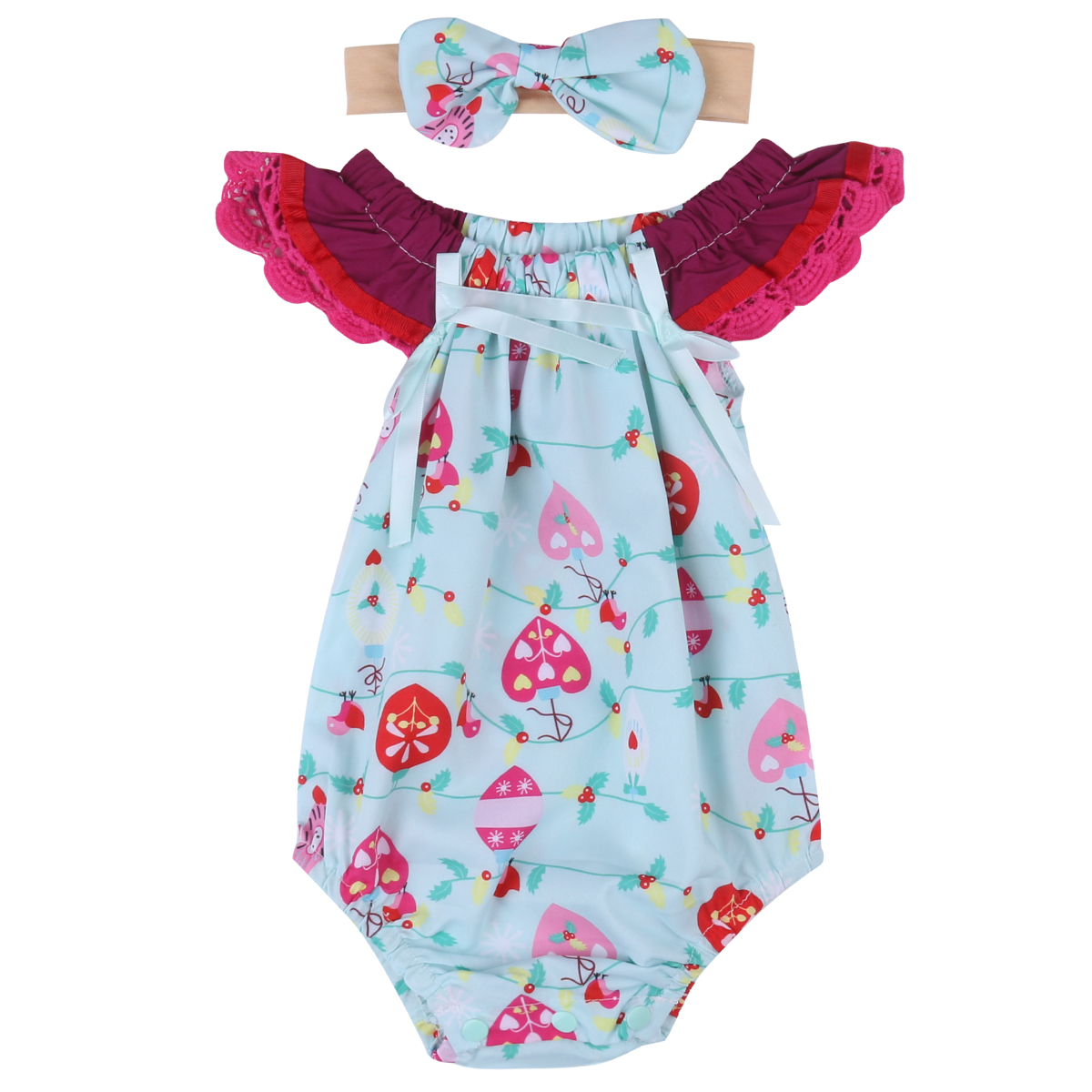 d76d81af5 2017 New Cute Newborn Baby Girl Floral Romper Clothes Infant Bebes Lace  Jumpsuit Sunsuit and Headband 2PCS Outfit Clothing Set - Best Kids Clothing  Stores ...