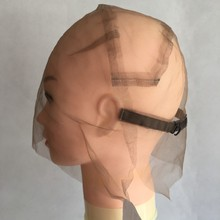 1 PC Full Lace Wig Cap Full Hand Made Wig Net For Customizing Wigs With Adjustable Straps Comfortable Hairnet