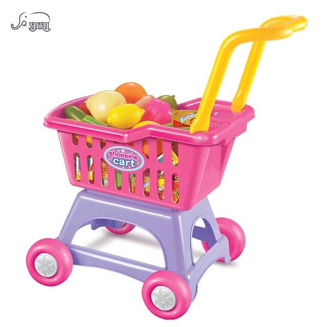 shunhui mini supermarket shopping cart kitchen set toys