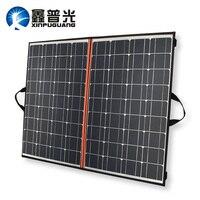 Xinpuguang Панели солнечные 140 Вт 70 Вт * 2 18 В 150 Вт складные сумки Зарядное устройство Eficient ячейки моно + 12 В 24 В 10A контроллер + Солнечная Одеяло