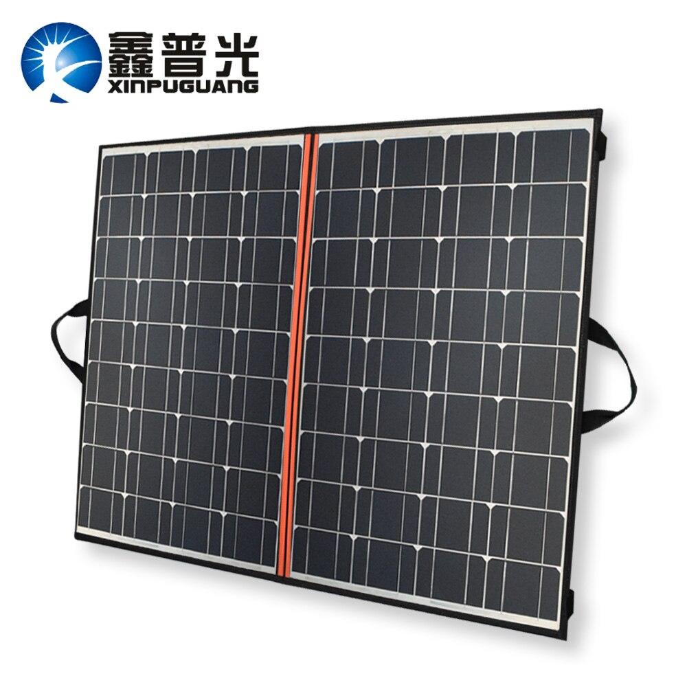 Xinpuguang Solaire Panneau 140 w 70 w * 2 18 v 150 w Pliage Sac Chargeur Eficient Mono Cellulaire + 12 v 24 v 10A Contrôleur + Solaire Couverture
