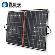 Xinpuguang Solar Panel 140W 70W*2 18V 150W Folding Bag Charger Eficient Mono Cell + 12V 24V 10A Controller + Solar Blanket